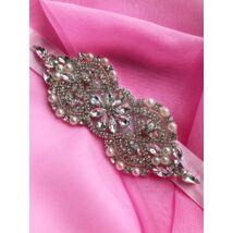 Clara koszorúslány /menyasszonyi öv- rózsaszín