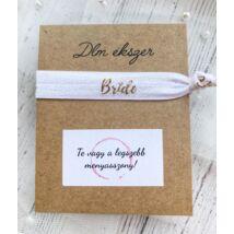 Bride karkötő-lánybúcsúra a menyasszonynak- fehér