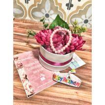 Szülinapi ajáncsékcsomag- pink- közepes