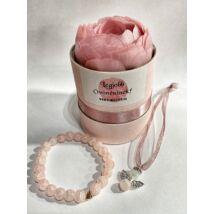 Angyalos évzárós ajándék szett- legjobb óvó néninek- rózsaszín