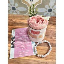 Tanú felkérő virágbox- rózsaszín-márvány