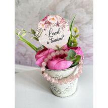 Tanú felkérő ajándékcsomag- rózsaszín és pink