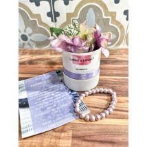 Tanú felkérő virágbox- lila