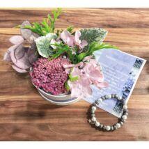 Koszorúslány felkérő virágbox- lila - közepes