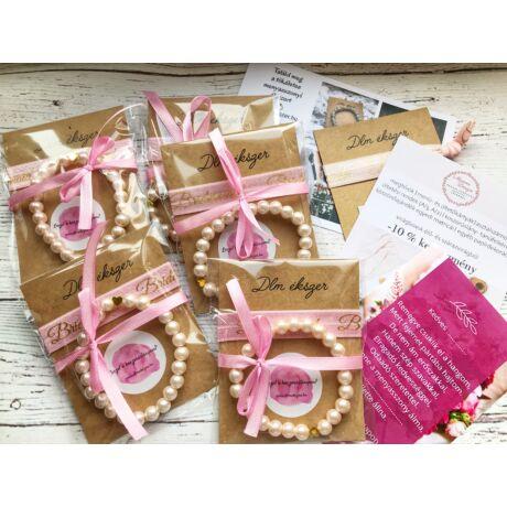 Koszorúslány felkérő csomag- rózsaszín- 5db