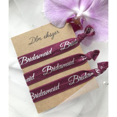 Bridesmaid karkötők- burgundi- koszorúslányoknak- 3db