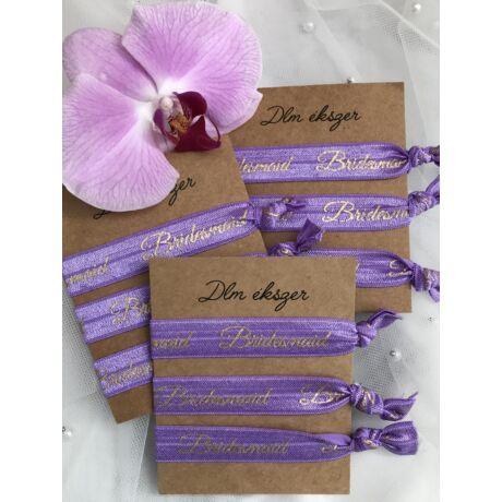Bridesmaid karkötők- lila- koszorúslányoknak- 9db