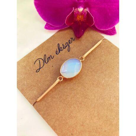 Opalit kristályos cérnakarkötő- arany