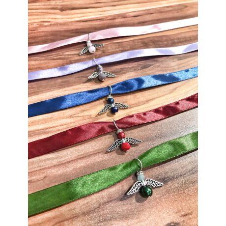 Angyalkák szatén szalagon - 5db- színes