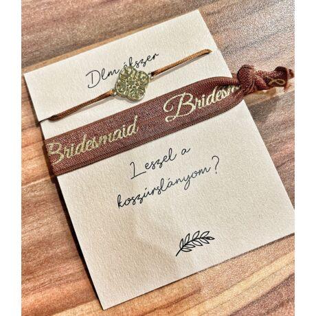Bridesmaid szett- Mandala- barna