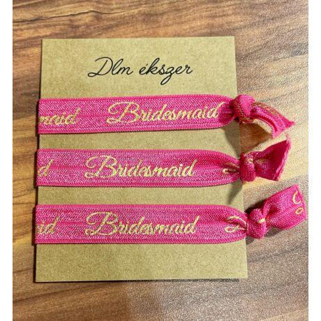Bridesmaid karkötők- koszorúslányoknak- 3db - pink