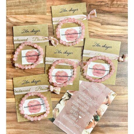 Koszorúslány felkérő csomag- roppantott rózsaszín- 5db