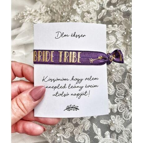 Lánybúcsús ajándék a menyasszonytól- sötét lila