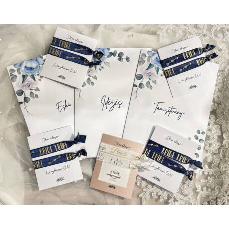 Extra Bride tribe karkötők- lánybúcsúra- 10db/ csomag- kék