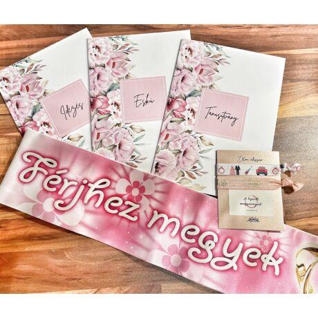 Menyasszonyi szett lánybúcsúra- rózsaszín