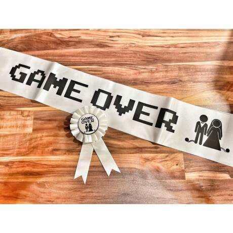 GAME OVER szett a menyasszonynak
