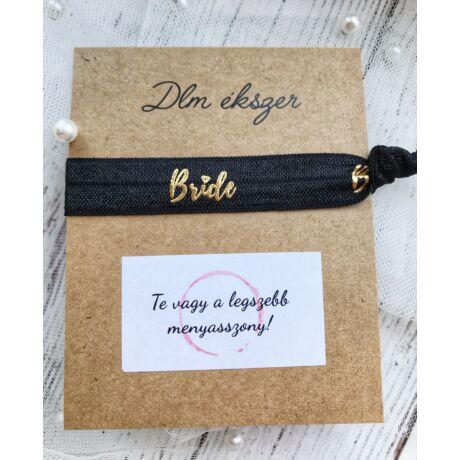 Bride karkötő-lánybúcsúra a menyasszonynak- fekete