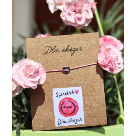 Love cérnakarkötő szerelmednek- rózsaszín